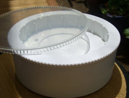 Revolving 8 Inch Turning Base Battery Operated Cake Stand