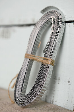 Galvanized Tin Corrugated Ribbon $5.99 1/4in 15ft