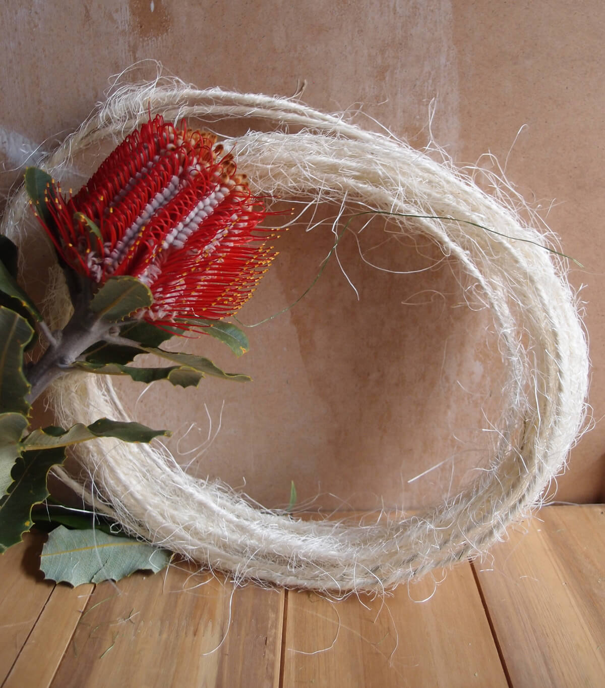 Natural Sisal Covered Wire Roping  3.5mm x 33 FT, Floral Supplies