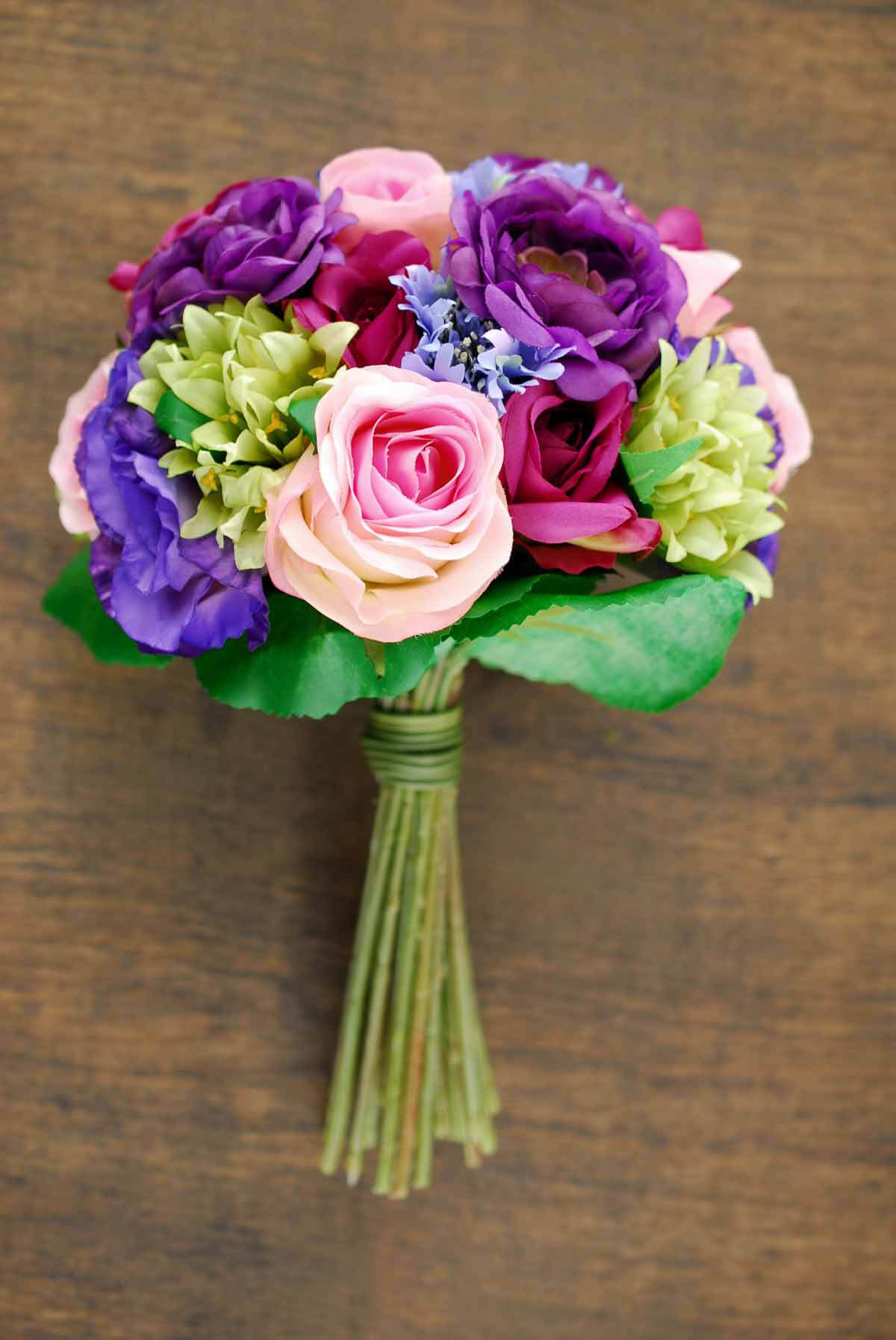 Rose And Lisianthus Bouquet 11 5in