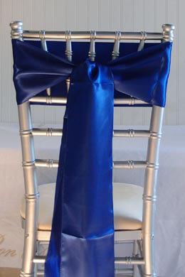 10 Royal Blue Satin Chair Sashes 6x106