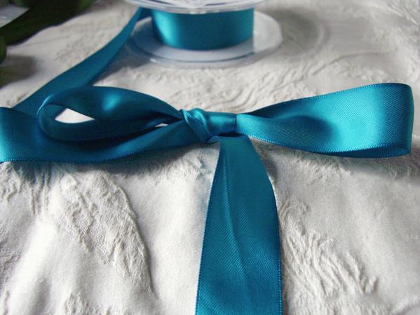 "Sapphire Blue DF Satin Ribbon 1"" x 9 yds"