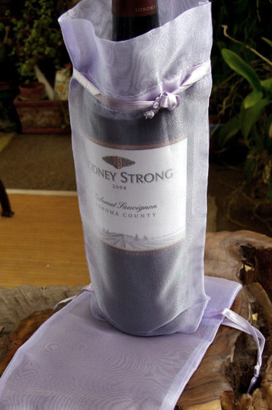12 Lavender Sheer 5x10  Drawstring Pouches