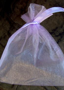 12 Organza Favor Bags Lavender 5x6