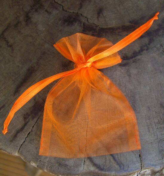 24 Orange 3x4 Organza Bags
