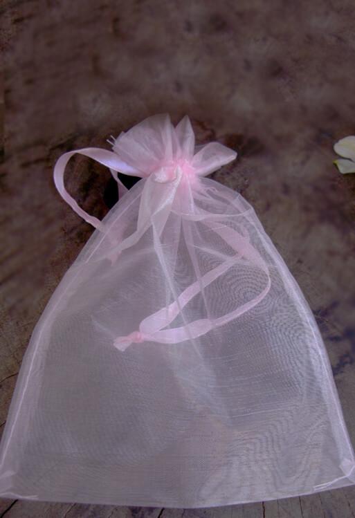 50 Organza Favor Bags Pink 4x6