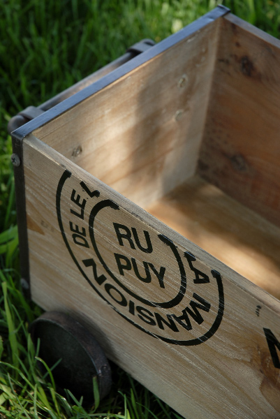 Wooden Shipping Crate on Wheels 22in