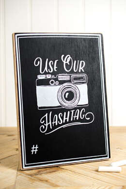 Hashtag Chalkboard Sign 7x10in