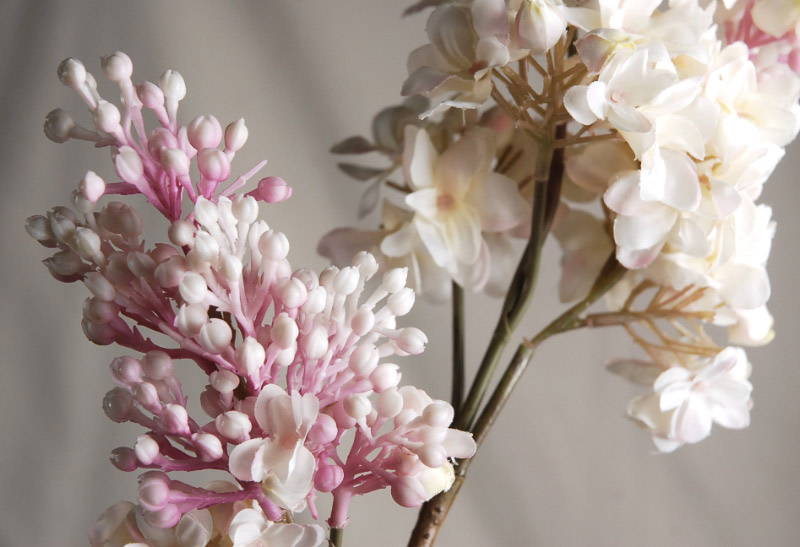 Silk Pink Lilac Flowers 25in