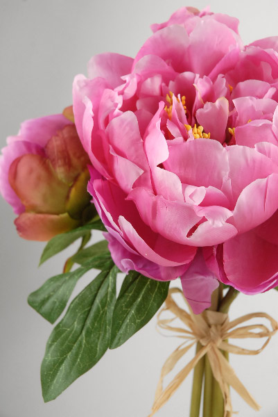 Pink Peony Bouquet 14in