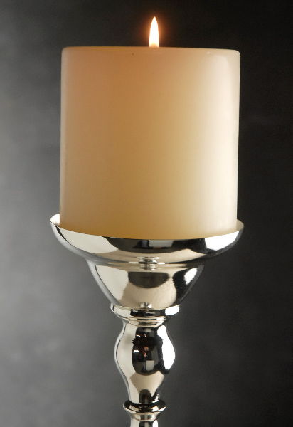 Silver Plated Pillar Candle Holder