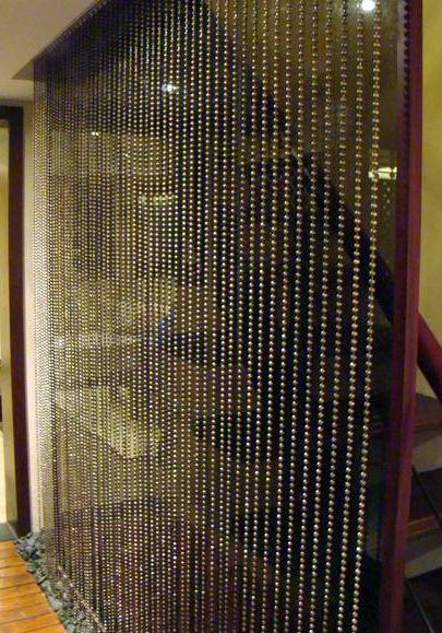 "Silver Crystal Beaded Curtain 6FT x 35"" Wide"
