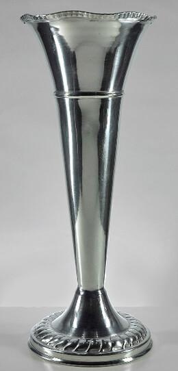 """Aluminum 15"""" Trumpet Flower Vases"""