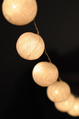 Cotton Ball String Lights 20CT  8 FT