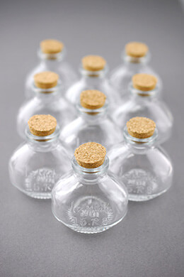 Small Glass Bottles with Cork 40ml 2.25in (Pack of 10)