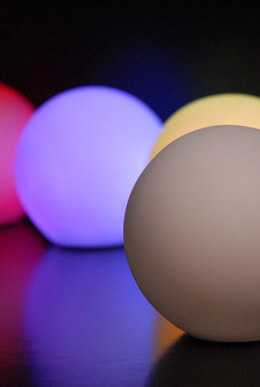 LED Small Glowing Orbs 3.25in