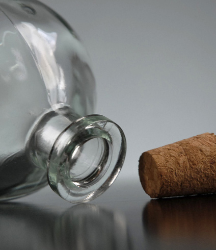 12 Round 4in Glass Ball Bottles with Corks 8.5oz