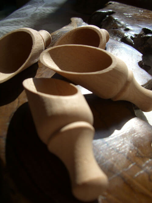 10 Wood Scoops 3 1 2 Quot