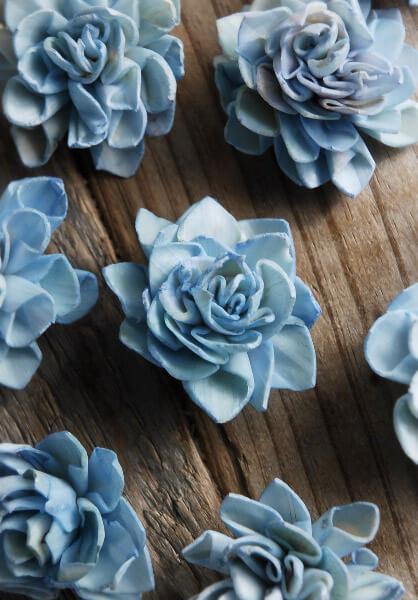 Sola Flowers Dahlia Blue 9 Flowers