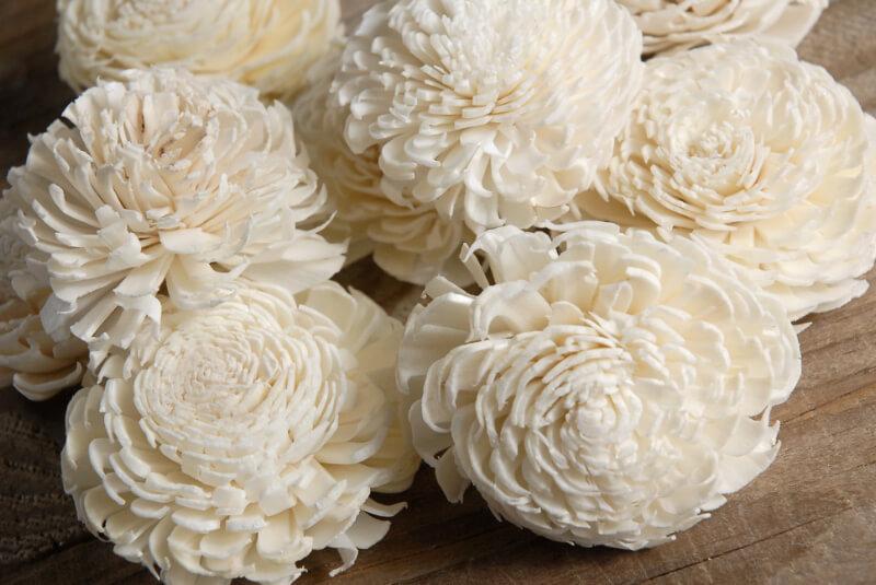 "Sola Flowers 2-2.5"" Cream White Chorki (12 flowers)"