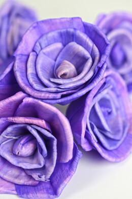 15 Sola Flowers Purple Roses