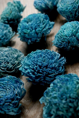 Sola Flowers Teal Blue 12 Flowers