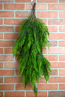 "Large 36"" Faux Cedar Branch, Outdoor Spray"