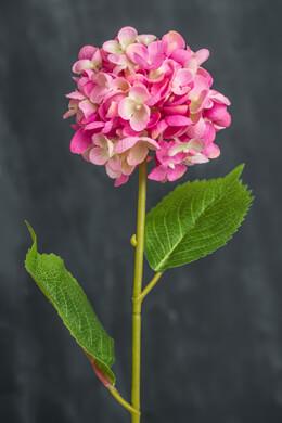 Pink Silk Hydrangea Spray