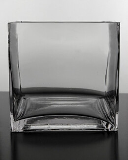 Square Glass Vase 6in