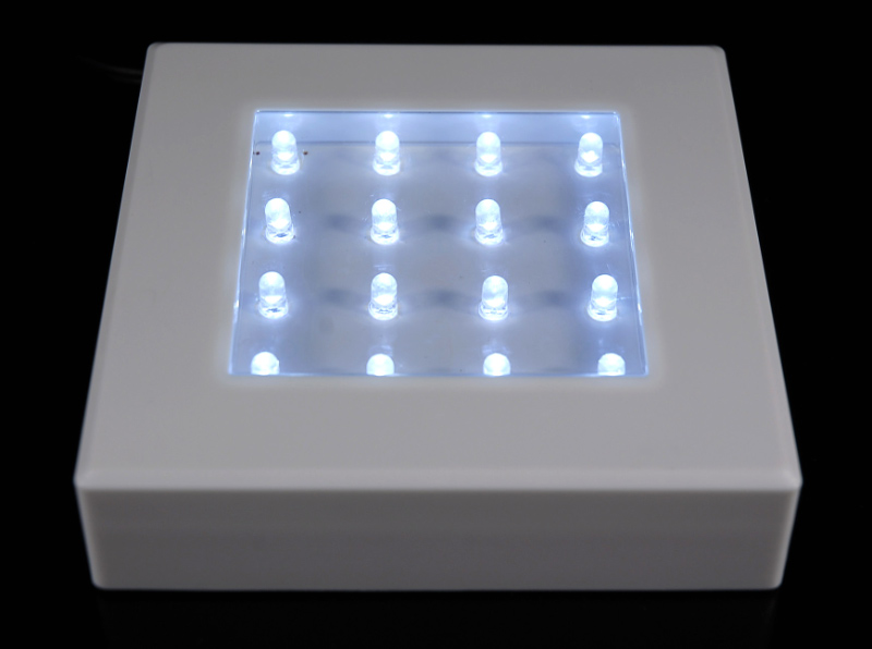 White 5 Quot Square Light Base 16 Leds Cool White Battery