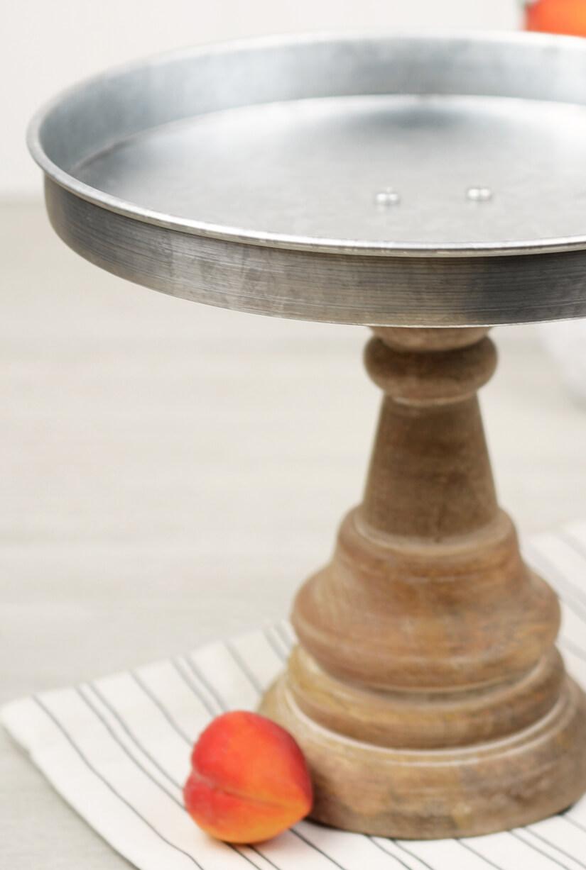 Mud Pie Pedestal Cake Stand