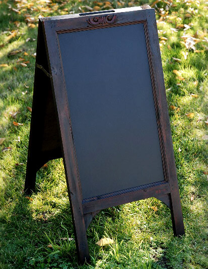 Large 31 Quot Wood Framed Standing Chalkboard Easel Two Sided