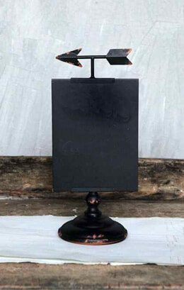 Metal Chalkboard on Stand with Arrow