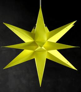 24in Multi Point Yellow 3D Star Lanterns