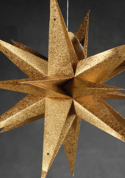 Large 22 Quot Gold Moravian Multi Point 3 D Star Decorations