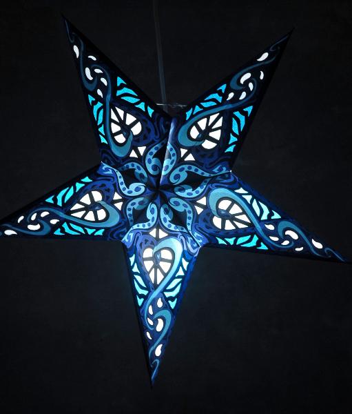 ... Star Lanterns Blue Star 24in