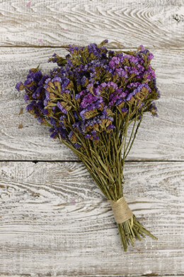 Preserved Purple Statice Bouquet 10-14in 4oz