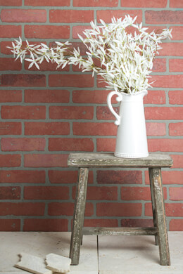 "Wood Stool 14"" Display Stand"