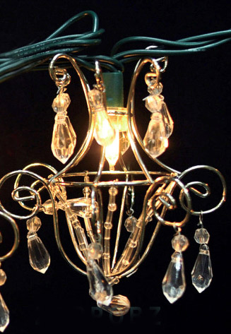 mini acrylic crystal chandelier string lights 16ft