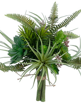 "Artificial Succulent Garden Bouquet in Green - 10.5"" Tall"
