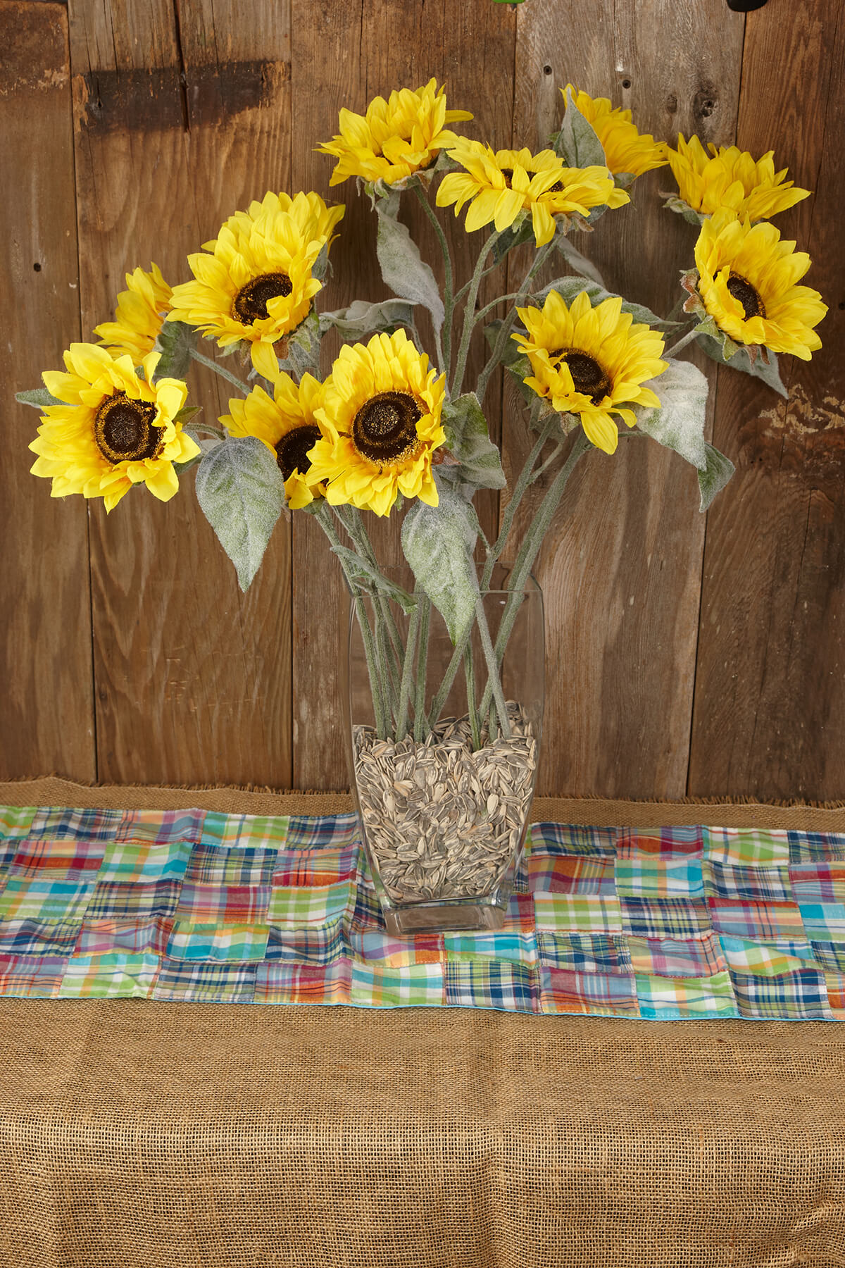 Sunflower Spray Yellow 24in Pack Of 12