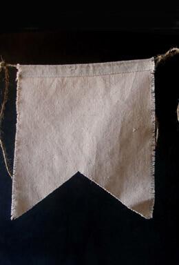 Swallow Tail Linen Pennants 8x9 (6 Pennants) Linen Banner