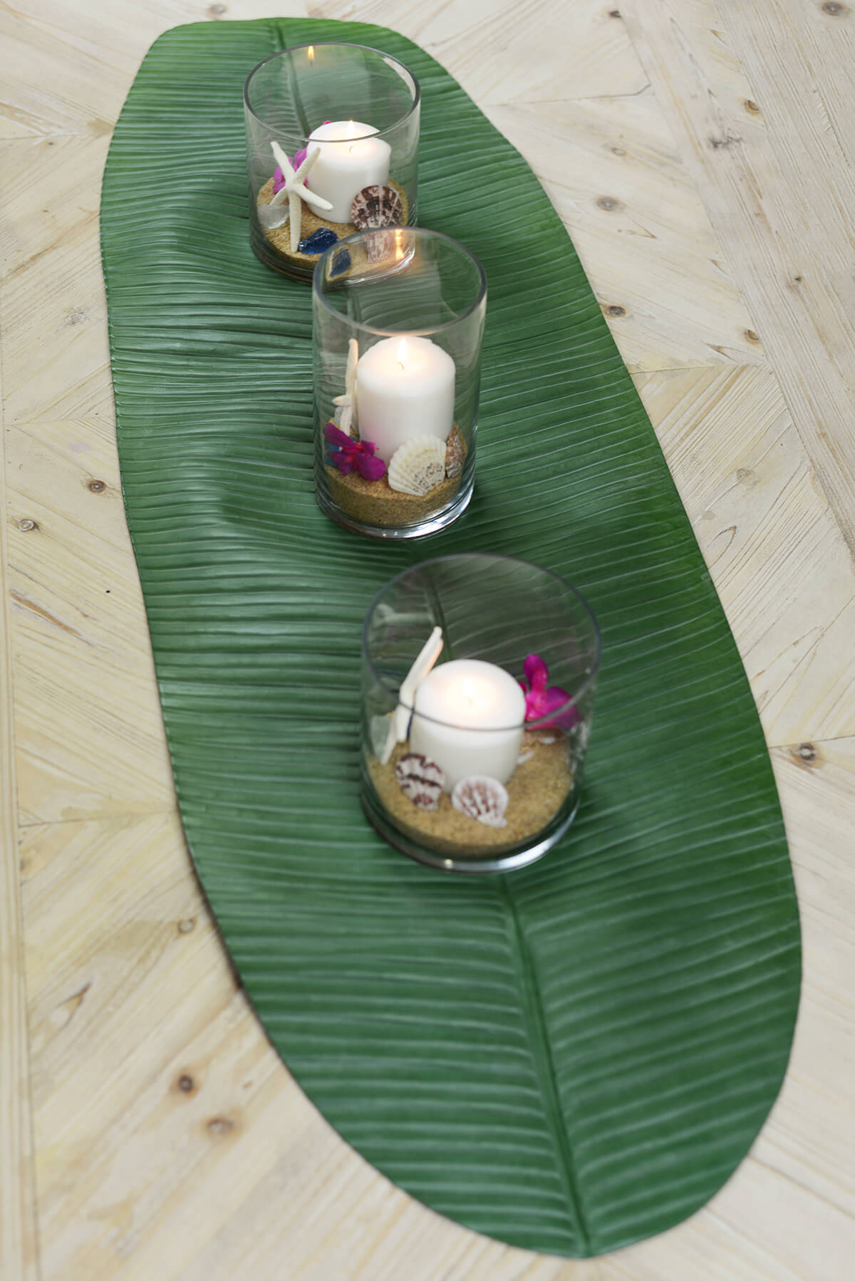 Banana leaf table runner 53 for Artificial banana leaves decoration