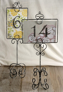 2 Antique Wire Table Number & Picture Stands