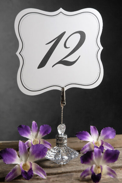 Table Numbers Double Sided 1 25