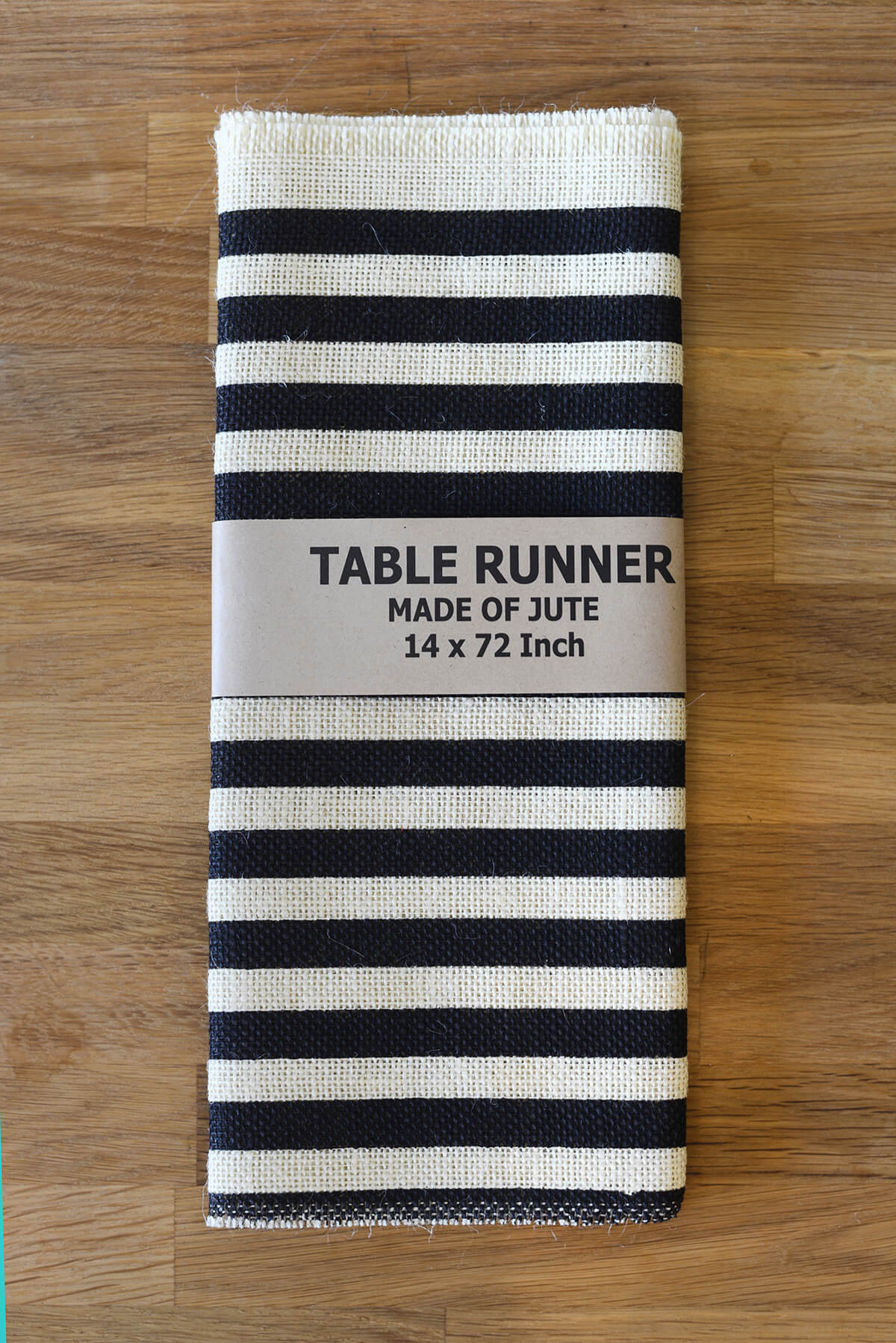 Bamboo black table runner 72 inches checkered kitchen linen dining - Ivory Black Stripes Burlap Table Runner 14x72