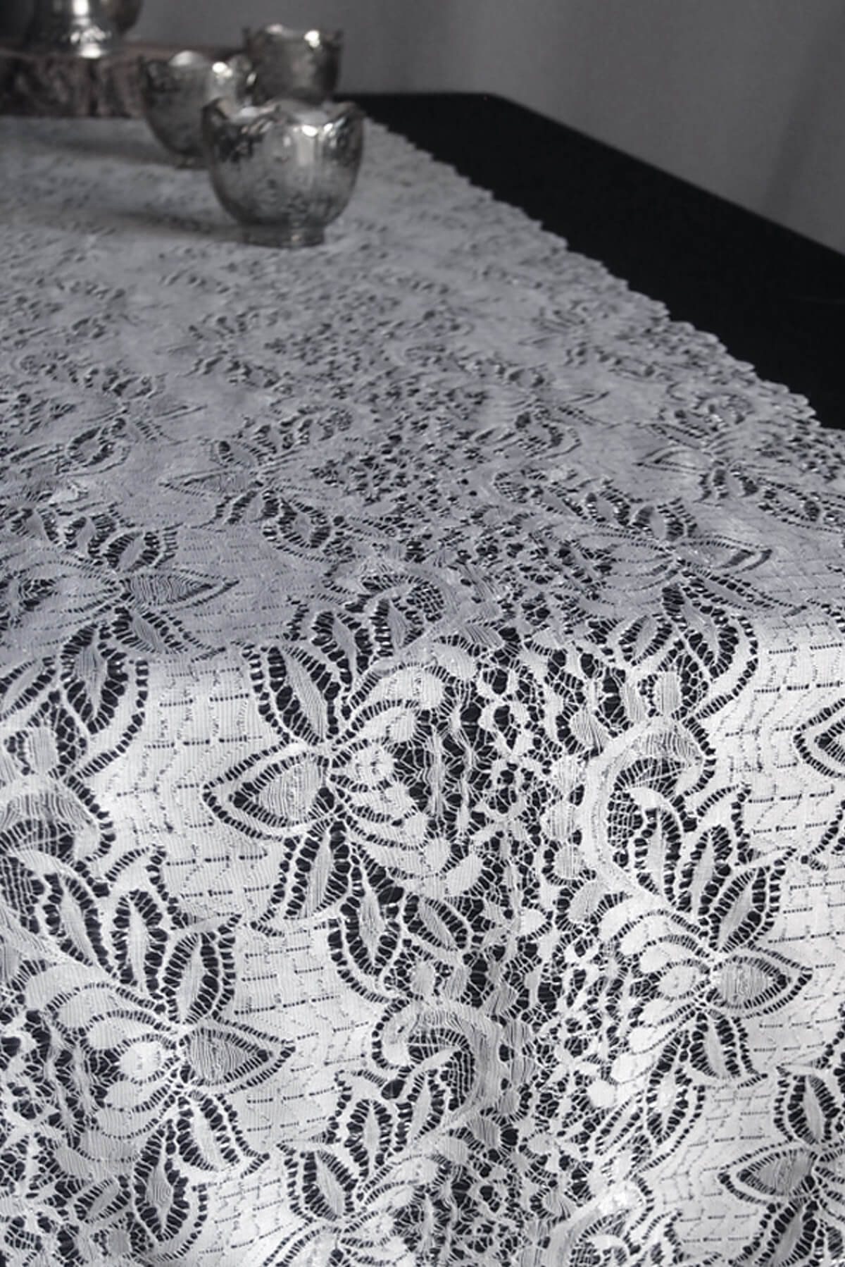 White lace table runner 12 x 108 english lace design for 108 table runner