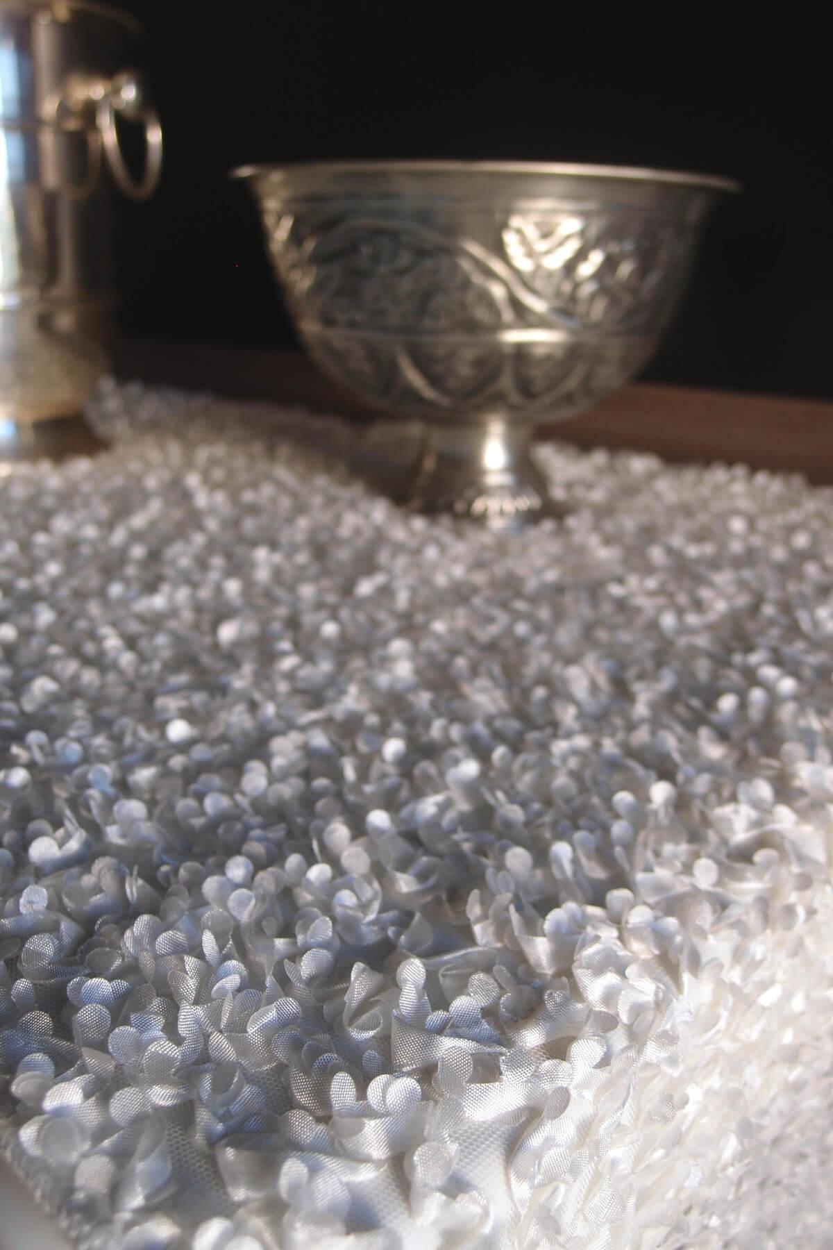 Shimmering White Mini Flower Petal Wedding Table Runner