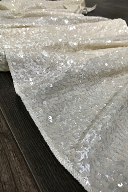 Ivory Raindrop Sequin Table Runners