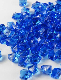 Blue Crystal Gems Table Confetti and Scatter 3/4 LB